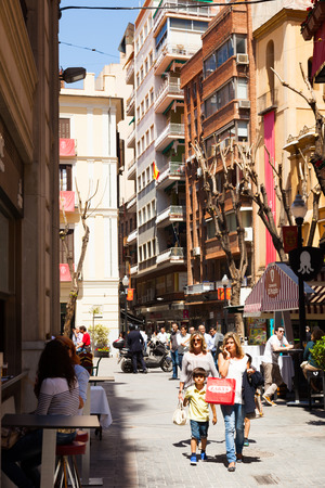 april 15: MURCIA, SPAIN - APRIL 15, 2014: View of Murcia. Old streets Editorial