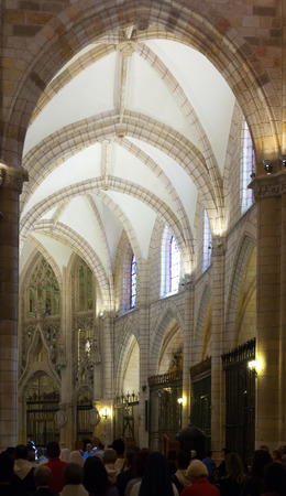 murcia: MURCIA, SPAIN - APRIL 15, 2014: Interior of Cathedral  of Saint Mary in Murcia.  Spain