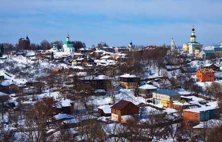 vladimir: View of old Vladimir  in winter, Russia Stock Photo