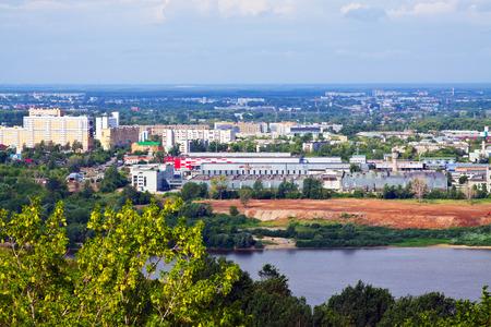 nizhny novgorod: Summer view of industry district of Nizhny Novgorod. Russia