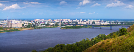 residential district: panoramic view of  residential district at Nizhny Novgorod in summer. Russia