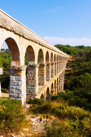 acueducto: Ponte del Diable in Tarragona. Catalonia