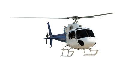 ヘリコプターは、白で隔離を旅行します。 写真素材