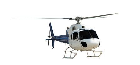 helicopter pilot: Travel helicopter, isolated on white