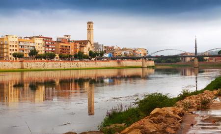 ebre: Day view of Ebro in Tortosa, Catalonia