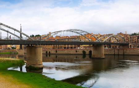 ebre: Bridge called Pont de lEstat over Ebre  in Tortosa, Spain Stock Photo