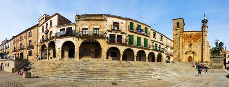 TRUJILLO, SPAIN - NOVEMBER 18, 2014: Panaramic view of Plaza Mayor in Trujillo, Caceres