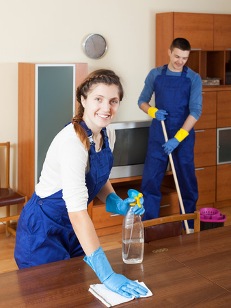 cleaning team: Cleaning team is ready to work