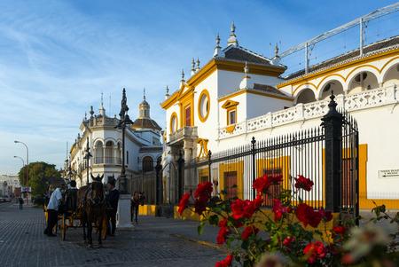 plaza de toros: SEVILLE, SPAIN - NOVEMBER 19, 2014:  Plaza de Toros. Seville, Andalusia