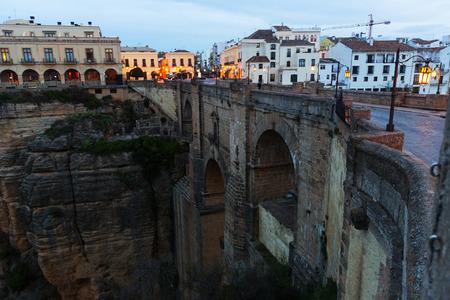 nuevo: Early morning view of Ronda with Puente Nuevo. Spain
