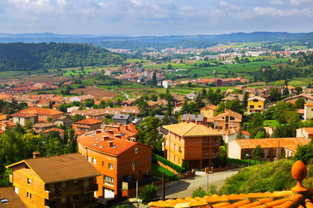 view of Berga area in summer. Catalonia