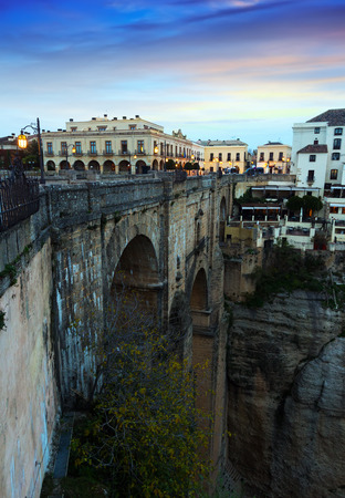 nuevo: Old bridge in early morning at Ronda. Andalucia, Spain