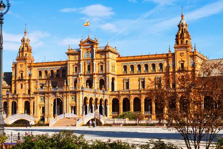 sevilla: central building  of Plaza de Espana. Sevilla, Spain Editorial