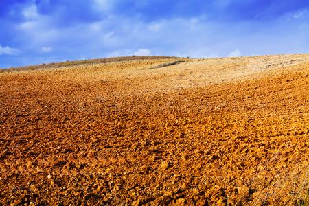 the ploughed field: Close up view at ploughed field Stock Photo