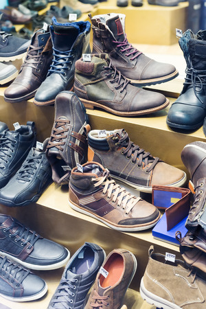 wintry: Counter with wintry  shoes at fashionable shop