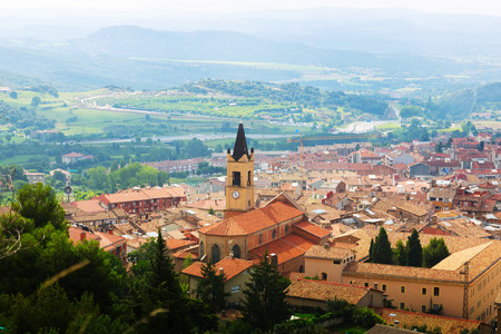view of town in Pyrenees. Berga,  Catalonia