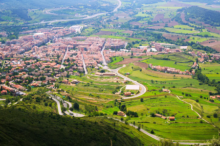 Berga area from mount in  Pyrenees, Catalonia