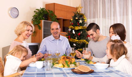 tonight: parents with adult kids and grandchildren celebrating New Year tonight
