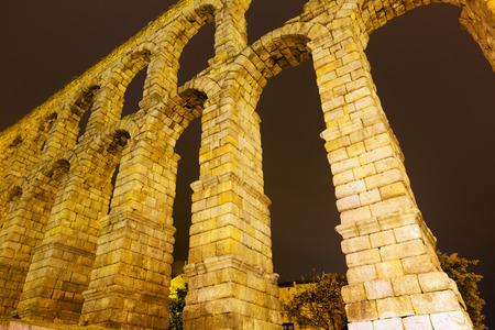 acueducto: Closeup of roman aqueduct in Segovia.  Spain