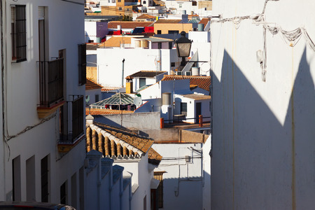 districts: residential districts of andalucian town.  Osuna, Spain Stock Photo