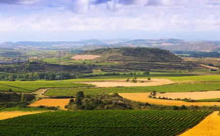 rioja: Rural landscape in  La Rioja, Spain Stock Photo