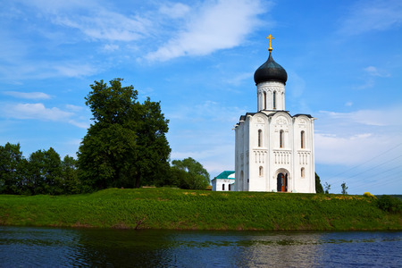 Church of the Intercession on the River Nerl in summer. Vladimir region, Golden Ring of Russia photo
