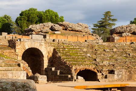 merida: Roman Amphitheatre in Merida. Spain