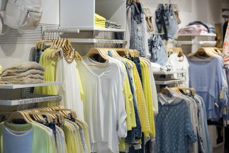 female casual clothes   in boutique Archivio Fotografico