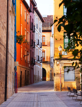 olden day: Old street in Logrono. La Rioja, Spain