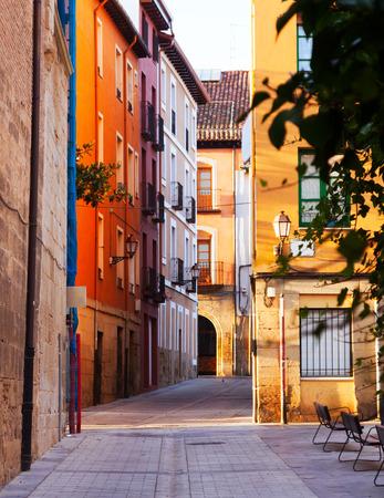 rioja: Old street in Logrono. La Rioja, Spain