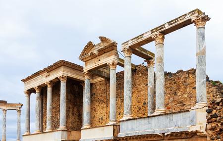 extremadura: Closeup of  Roman Theatre at Merida. Extremadura,  Spain Stock Photo