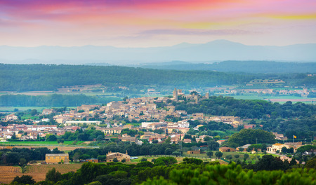 pals: view of Pals area in summer. Catalonia, Spain