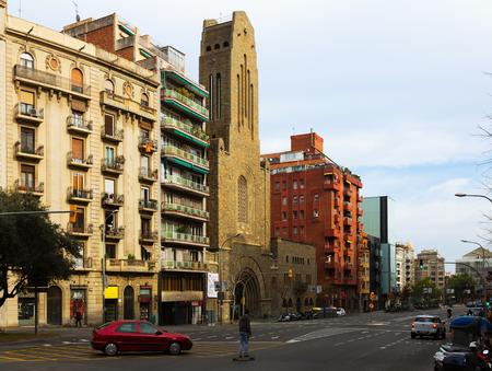 augusta: BARCELONA, SPAIN - MARCH 8, 2015: Augusta avenue in Barcelona, Spain.  Located in the Gracia district Editorial