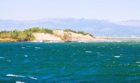 ebre: Delta of Ebro river in summer. Spain