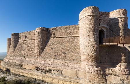chinchilla: Day view of castle of Chinchilla.  Chinchilla de Monte-Aragon,  Spain