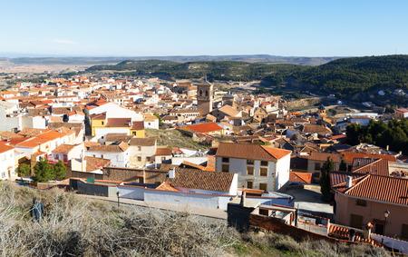 chinchilla: Roofs  of spanish town.  Chinchilla de Monte-Aragon, province of Albacete, Spain