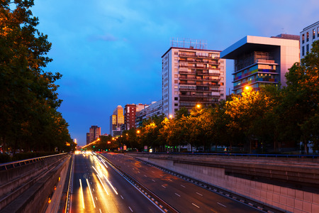 castellana: Paseo de la Castellana - most important street in Chamartin district. Madrid, Spain