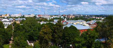 residential settlement: panoramic view of old district in Vladimir. Russia Stock Photo