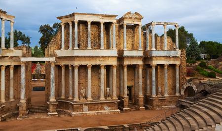 extremadura: Antique Roman Theatre at Merida. Extremadura, Spain