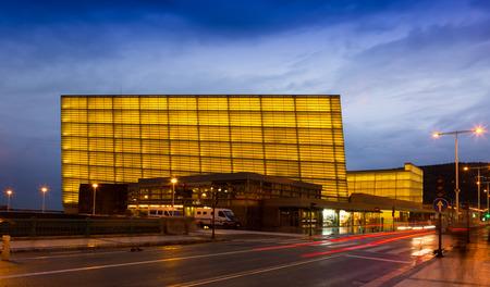 san rafael: DONOSTIA, SPAIN - NOVEMBER 5, 2014: Kursaal Congress Centre and Auditorium is the home of the biggest film festival in Spain -  San Sebastian International Film Festival, in existence since 1953