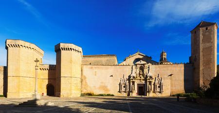 santa maria: Royal Abbey of Santa Maria de Poblet. Catalonia