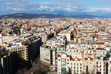 barcelone: Quartier r�sidentiel de Barcelone. Catalogne Banque d'images