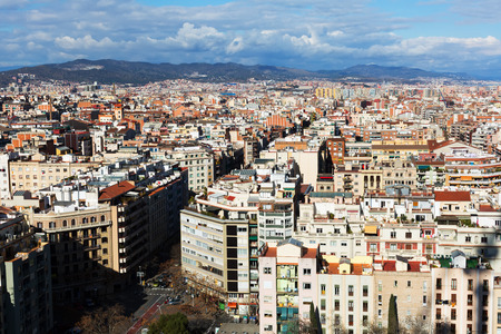 barcelona: Residential  district of Barcelona. Catalonia