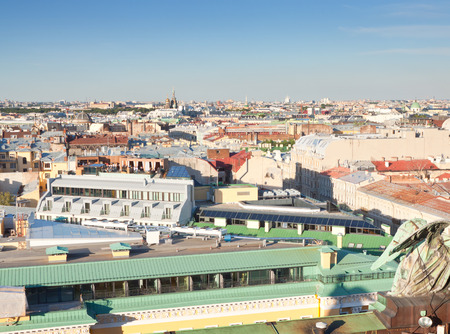 piter: Top view of city from Saint Isaacs Cathedral. St. Petersburg, Russia