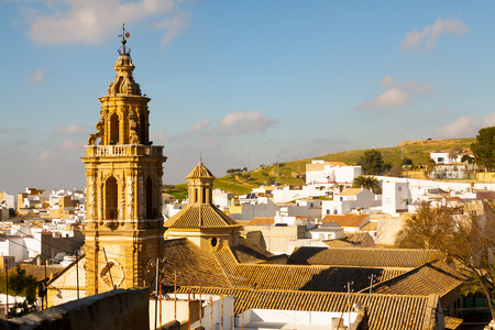 andalucia: View of Osuna with church.  Andalucia,  Spain