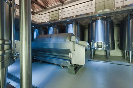 winemaker: interior of contemporary modern winemaker factory Editorial
