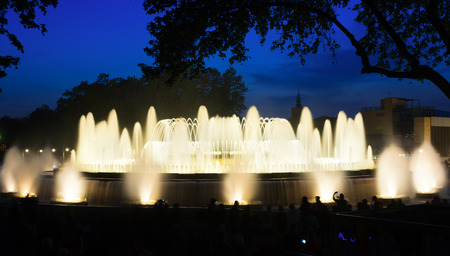 Montjuic fountain in Barcelona. Catalonia, Spain photo