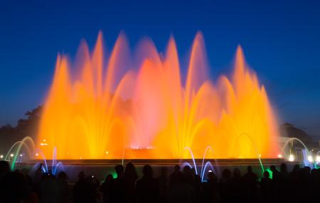 vocal Montjuic fountain in Barcelona. Spain