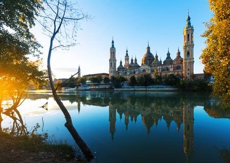 zaragoza: Basilica of Our Lady of the Pillar in morning. Zaragoza