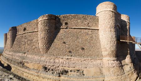 chinchilla: Day view of castle of Chinchilla.  Chinchilla de Monte-Aragon, province of Albacete, Spain